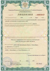 Лицензия УФСБ (РосЭкоАудит)